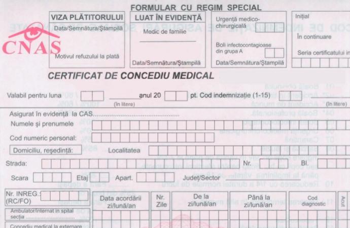 Certificatul de concediu medical | Se elimină viza medicului de familie | CNP copil bolnav